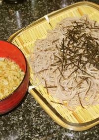 サクサク、ラード揚玉冷つけ蕎麦