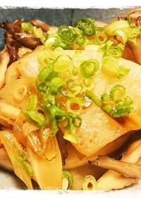 めんつゆにお任せ☆大根と舞茸の炒め煮