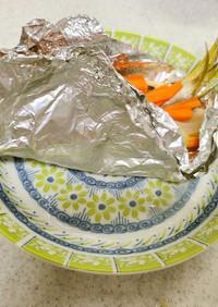 ✨カマスのホイル焼き&茄子と玉葱の味噌汁