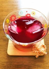 夏に爽やか赤紫蘇ジュース