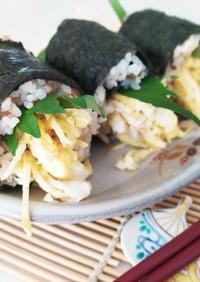 しそと錦糸玉子の一口巻き寿司~韓国風~