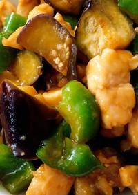 夏野菜と胸肉の甘酢炒め