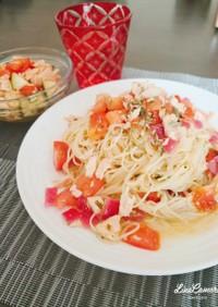 ♪トマトとツナの冷製カッペリーニ♪