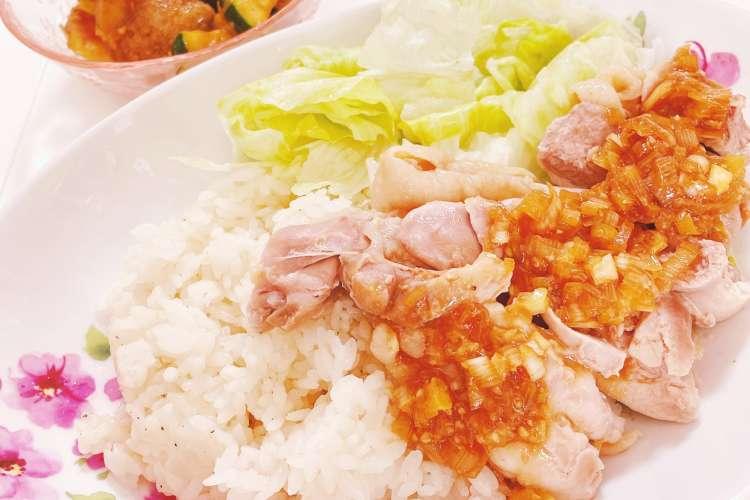 レシピ 炊飯 器 カオマンガイ