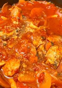 *鶏もも肉と野菜のトマト煮*