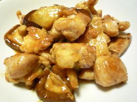 ☼鶏ももと椎茸のオイスターソース炒め