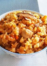 かしわ飯(鶏とごぼうの炊き込みご飯)