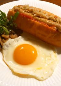 白菜の漬物でホットドッグ サルチャ