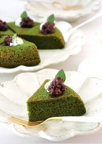 炊飯器で簡単♡はちみつ抹茶ケーキ