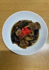 ナスと豚バラ肉の甘辛煮