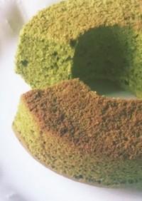 HMでふわふわ抹茶シフォンケーキ