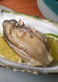 牡蠣のライム酒蒸し