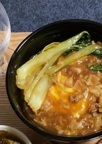 安い豚こま肉で中華豚丼(圧力鍋使用)