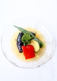 浸み浸み冷た〜い【夏野菜の揚げ浸し】