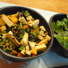 厚揚げ豆腐とひじきの炒め煮
