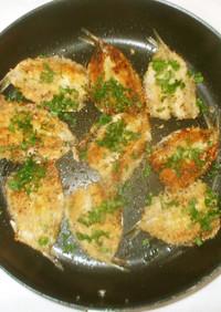 魚いわしのパン粉焼き♪フライより簡単
