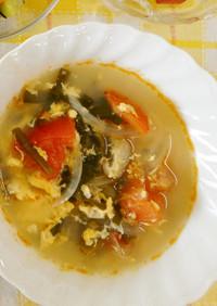 トマトの酸辣湯風スープ