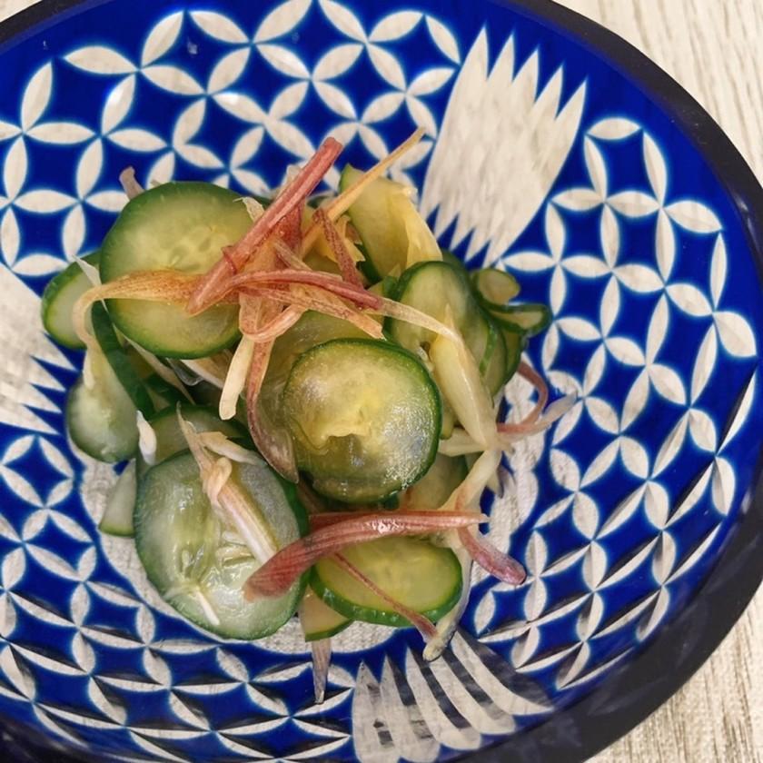 胡瓜☆ミョウガの酢の物