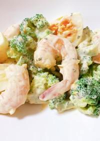 ダイエット エビとブロッコリーの卵サラダ