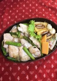 鶏胸肉の甘麹漬け焼きのり弁当