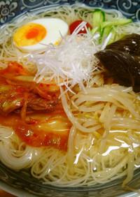 普通の冷麦に飽きたら「韓国冷麺風」