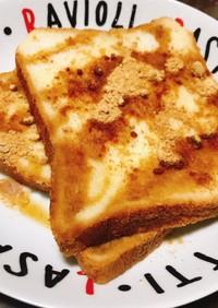 電子レンジで☆ヘルシー豆乳きなこトースト
