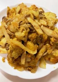 鶏胸肉のマヨカレー炒め