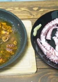 タコのアヒージョと茹で蛸の刺身