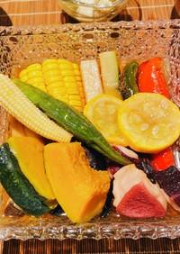 タコと夏野菜の揚げ浸し