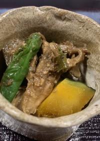 ナスとししとうと舞茸の味噌炒め