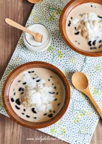 黒豆ココナッツ ミルクとカオニャオ
