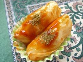 お弁当に♪魚肉ソーセージのロールキャベツ