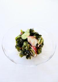 定番料理【蛸とワカメの酢の物】