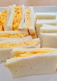 簡単!手作り塩麹の炒り卵サンドイッチ
