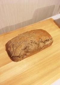 そば粉と強力粉の捏ねないパン