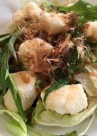 【使いきり】揚げ餅と梅肉の和風サラダ