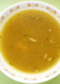 押麦のチキンスープ