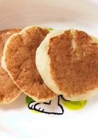 【離乳食後期】豆腐とバナナのパンケーキ