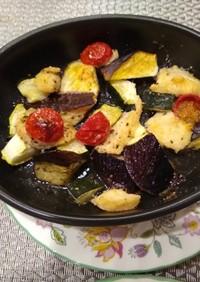 夏野菜とささみのオーブン焼き