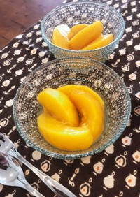 甘さ控えめ黄桃のコンポート