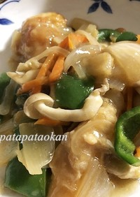 ムネ肉と野菜の炒め物