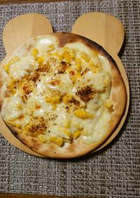 ヨウサマの減塩コーンマヨネーズピザ