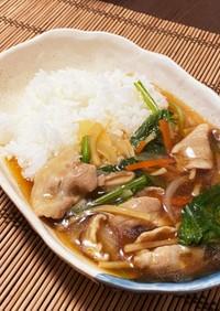 豚肉と筍の細切りあんかけご飯