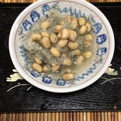 パパッと簡単大豆と大根おろしの甘酢和え