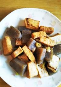 厚揚げこんにゃく炒め 節約ダイエットに。