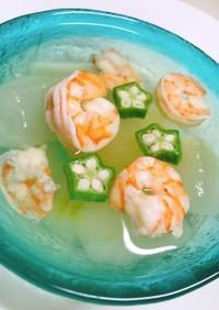 冬瓜と海老の冷製スープ•*¨*•.¸¸☆