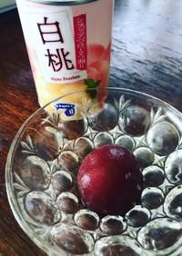 桃缶のコンポート(イチジク)