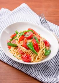 顆粒みそで簡単!夏野菜のペペロンチーノ