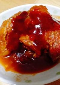豚かたまり肉の煮込み ケチャップソース
