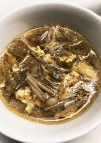 えのきと春雨のかきたまスープ